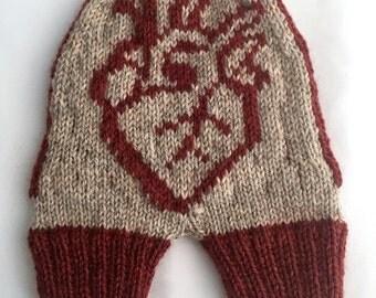 Smitten Mitten, Anatomical Heart, Hand Knit