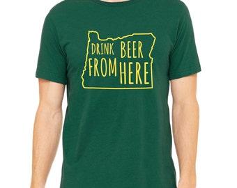 Ducks & Craft Beer- Oregon- OR- Drink Beer From Here shirt
