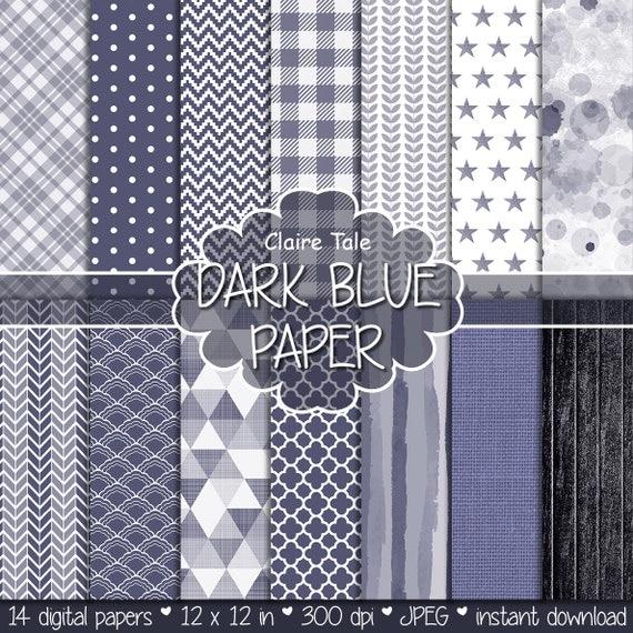 Dark blue digital paper, Dark blue printable pattern, Dark blue scrapbooking paper, Dark blue invitation background, Dark blue pattern