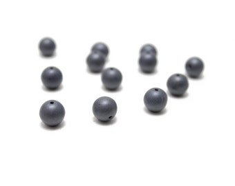 Matte Blue Gray Crystal Balls 8mm 12pcs