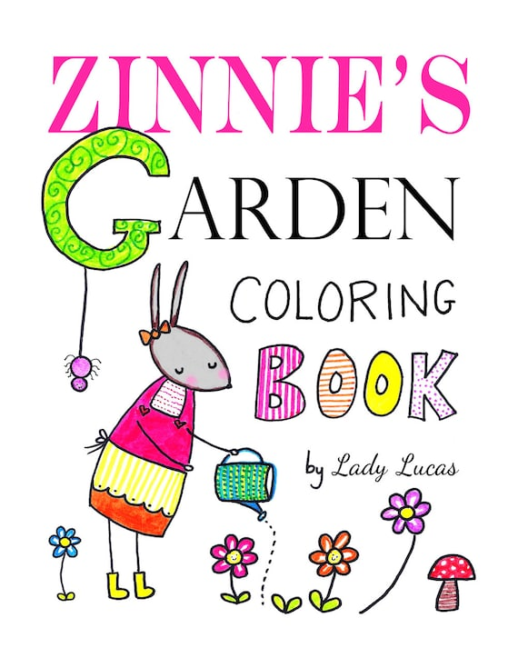 garden coloring book printable 20 cute simple garden motif coloring pages instant pdf colouring book download mothers day gift idea