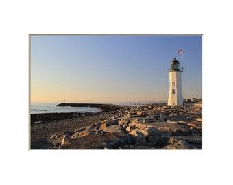 Scituate Lighthouse Photography Coastal Decor Old Scituate Lighthouse Landscape Photograph Scituate Light Massachusetts Nautical Decor