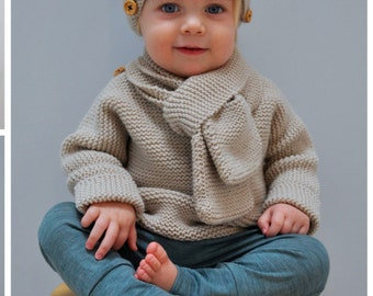 Quick and easy Kids Set #019- knitting pattern