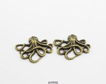 10pcs 21x24mm paul octopus charms pendants