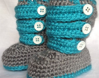 Blue Baby Boy Boots - Baby WInter Boots - Baby Boy Shoes - Baby Shower Gift - Baby Boy Gift - Expecting Mom Gift - Gifts for Baby Boy
