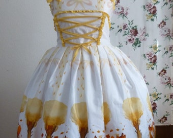 Artemis jsk - Classic Lolita dress with autumn fox print