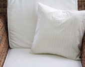 Gold and White Herringbone Pillow Cover - 16X16, 18X18, 20X20