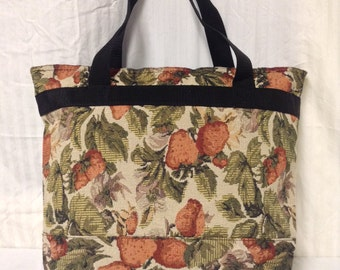 Free Ship Large Tapestry Shoulder Bag Travel Bag Strawberry's