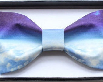Blue Clouds, Sky and Universe Bowtie Tie