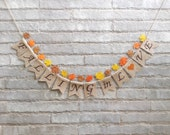 FALLING IN LOVE  Burlap banner – Fall wedding, autumn wedding, bridal shower, engagement, reception, Fall décor, Fall photo prop