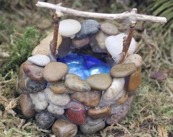 Fairy Garden Cobblestone Wishing Well