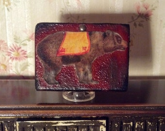 Circus Bear Sign Dollhouse Miniature 1/12 Scale 17048