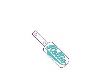 Kallie - In The Hoop - Snap/Rivet Key Fob - DIGITAL EMBROIDERY DESIGN