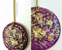 SPIRITUAL Orgone Pendant Medalion - Sahasrara Purple Orgonite - Programmed With The Highest Universal Love Energy -  Made To Order