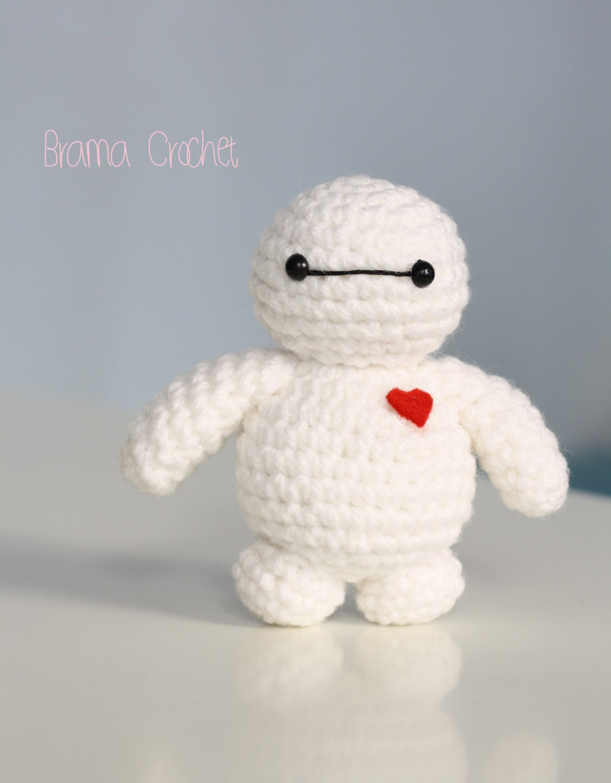 Crochet Amigurumi Baymax Pattern : Tiny Baymax Kawaii crochet amigurumi doll Handmade Crochet