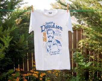 Chesapeake Oyster Wars Commemorative Historical Tee: Hunter Davidson Maryland Oyster Navy American Apparel T-Shirt Mustache Gift