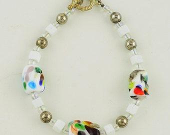 Handmade Lampwork Beaded Bracelet
