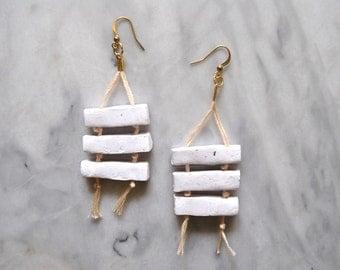Oraibi Fiber Earrings // Clay Earrings