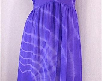 Vintage Nightgown LARGE X-LARGE Fischer Heavenly Lingerie Tie Dye Lingerie Purple Heart Valentine Lingerie Upcycled Vintage Hippie Festival