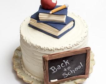"Fondant ""Back to School"" cake decoration set"