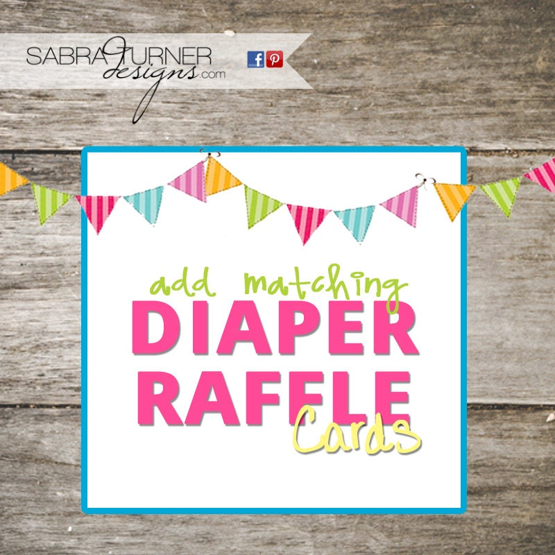 diaper raffle cards baby shower diaper raffle matching