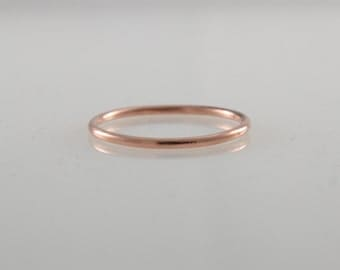 Copper Ring, Copper Stacking Ring, Smooth Copper Stack Ring, Dainty Thin Stacking Ring, 7th Anniversary, Copper Jewelry, Skinny Ring, Midi