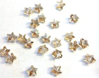 Swarovski Star Beads,4pcs,8mm Golden Shadow Star Beads,5714,Crystal Stars,Swarovski Stars,Star crystal beads,Gold Star Beads