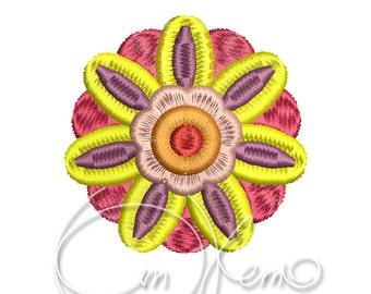 MACHINE EMBROIDERY DESIGN - flower, flower embroidery design