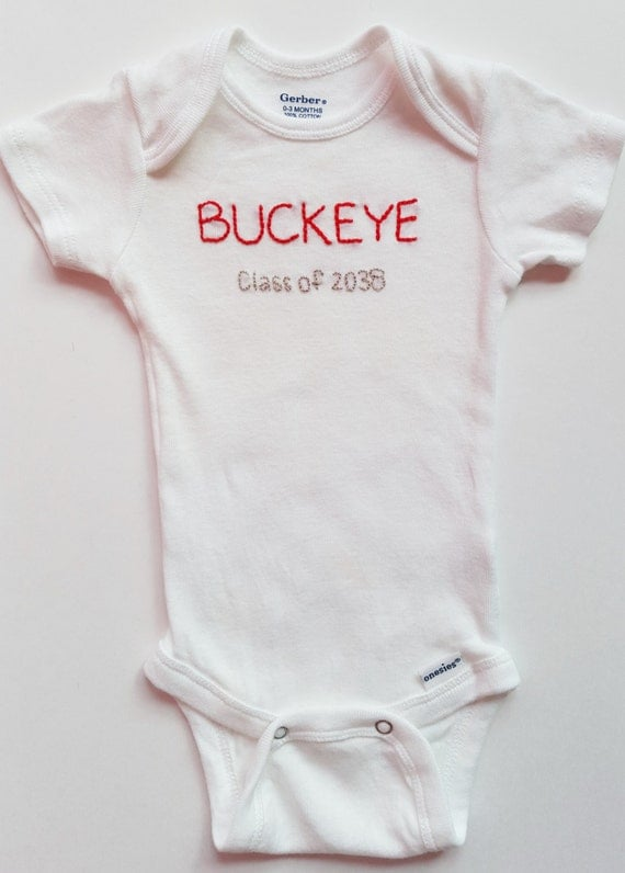 Items Similar To Ohio State Baby Onesie Osu Baby Outfit