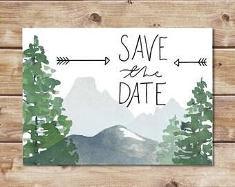 Save the Date - Mountainscape - Colorado wedding, mountain wedding, montana wedding