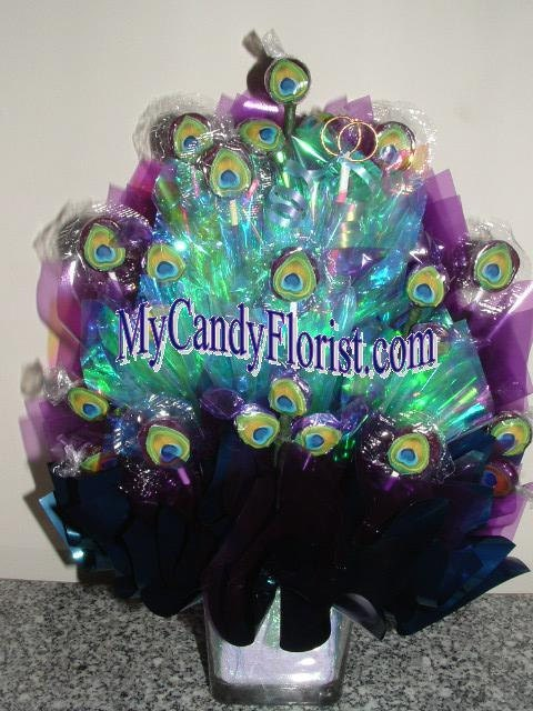 Peacock candy centerpiece diy pdf instructions step by