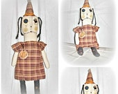 HANDMADE Folk Art Raggedy Whimsy Witch Doll Art Doll Halloween Home Decor by EerieBeth