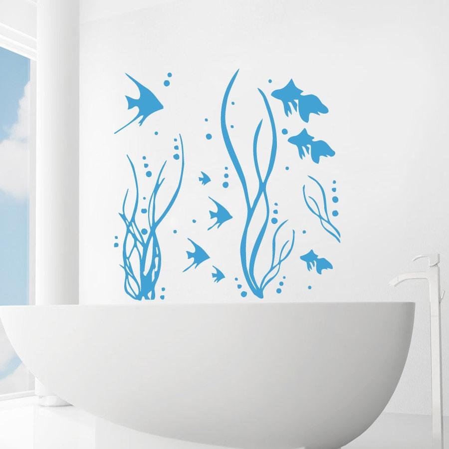 Wall Decals Sea Ocean Fish Seaweed Decal Vinyl Sticker