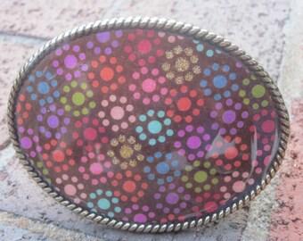women's belt buckle flowers green pink orange purple blue gold turquoise belt buckle bohemian belt buckle oval hippie belt buckle ladies
