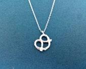 Pretty, Pretzel, Gols/ Silver, Necklace, Pretzel necklace, Pretzel jewelry, simple, minimal, pendant necklace, charm, gift, jewelry, modern