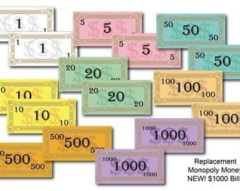 Replacement Board Game Money
