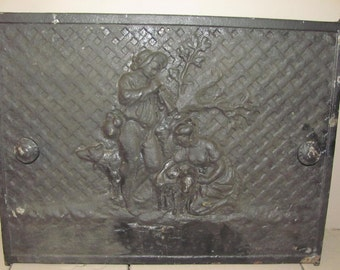 iron fireplace cover. Cast Iron Fireplace Cover  Door cover Etsy