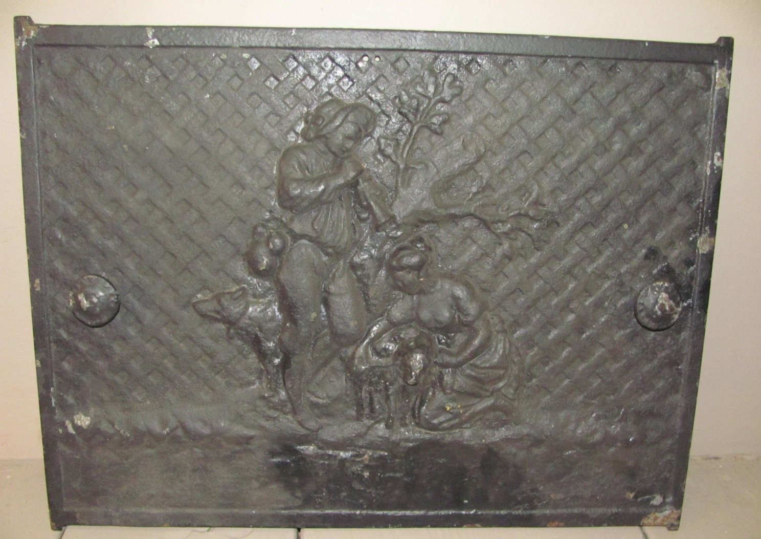 cast iron fireplace cover door by designsbycappenollie