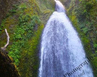Wahkeena Falls Photograph, Nature Photography, Waterfall Wall Art, 4x6 5x7 8x10 11x14