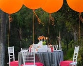 "Huge Giant High Quality Orange Balloons up to 36 "" inch 3 feet 91 cm XL Jumbo wedding babyshower decoration sweet table wedding centrepiece"