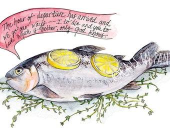 Philosofish Giclee Print