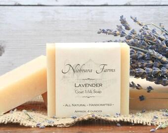 Handmade Natural Lavender Goat Milk Soap - Lavender Goat Milk Soap - Handcrafted Soap Bar - All Natural Lavendar Soap - Sensitive Skin Soap