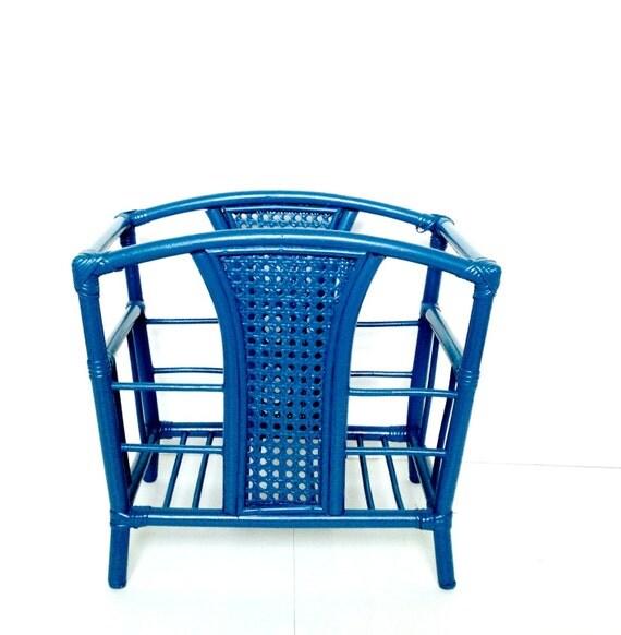 Porte revue bleu p trole style art d co upcycling bambou for Revue art et decoration