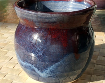 Small Vase blue and red