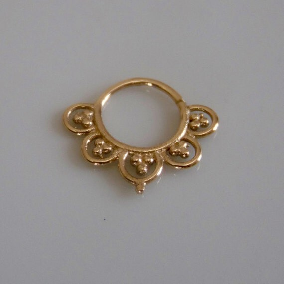 Aditha 18k septum ring gold septum ring septum by ronibiza - Decorative septum jewelry ...