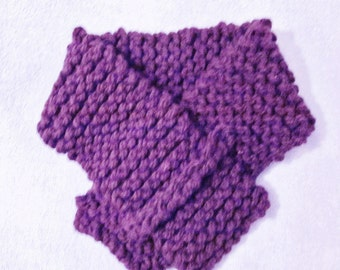 Collar, handknit, purple, (Prod 150)