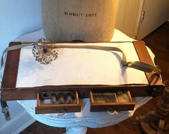 Vintage Portable Artist Field Kit, Nature Sketch Travelling Set , Vintage Artist Supply, Botanical Vasculum