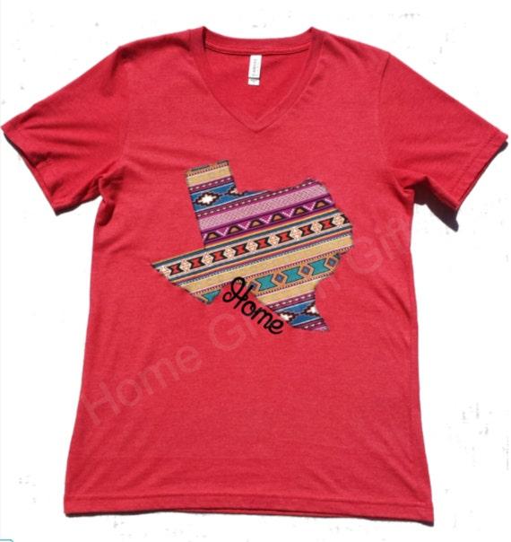 Texas Home Shirt Southwest Fabric Applique Design By