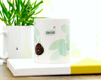 Mug - Fig - Bonjour - French