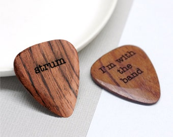 Guitar Plectrum, Gift For Dad, Best Dad Xmas Gift, Custom Guitar Pick, Wooden Guitar Plectrum, Personalized Guitar Plectrum